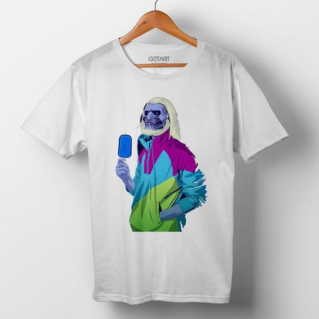 White Walker Dude Tv Series Half Sleeve Round Neck Printed T Shirt