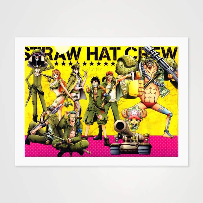 Straw Hat Crew - High Quality One Piece Anime Fan Art For Your Wall