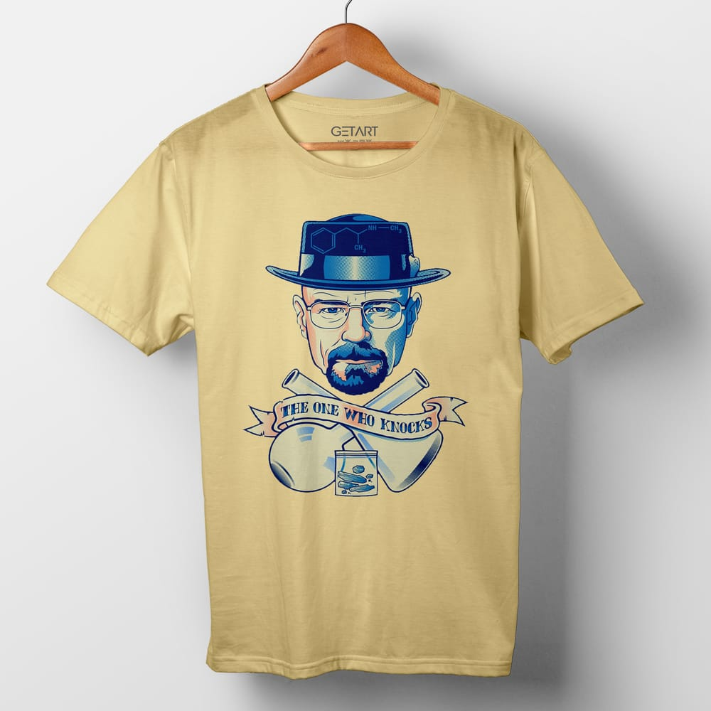I Am The One Who Knocks Breaking Bad Half Sleeve Round Neck T shirt