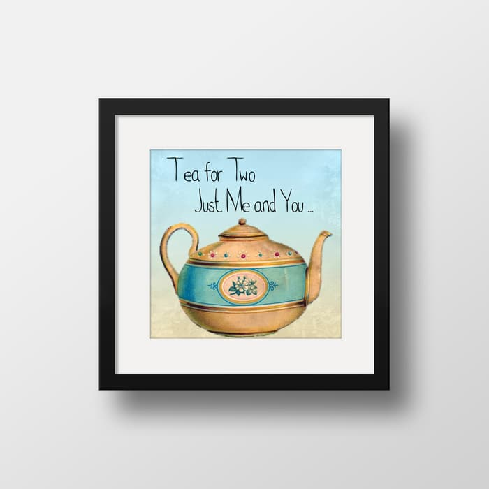 Tea For Two - High Quality Framed Mounted Art Print For Your Wall