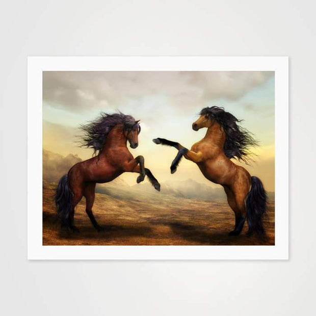 The Stallion Brothers - Nature Inspired Art Print For Your Wall-Art Prints-GetArt