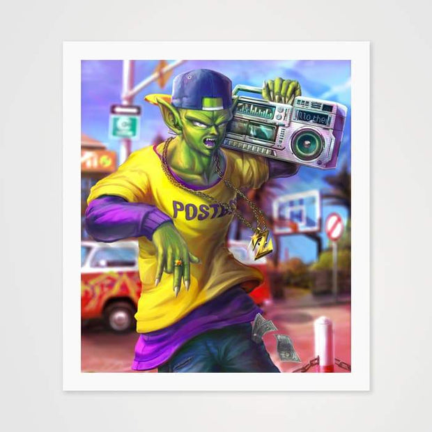 Street Piccolo - High Quality Dragon Ball Z Anime Fan Art For Your Wall-Art Prints-GetArt