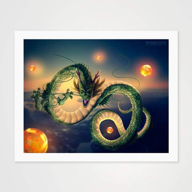 Shenron The Dragon - High Quality Dragon Ball Z Anime Art For Your Wall-Art Prints-GetArt
