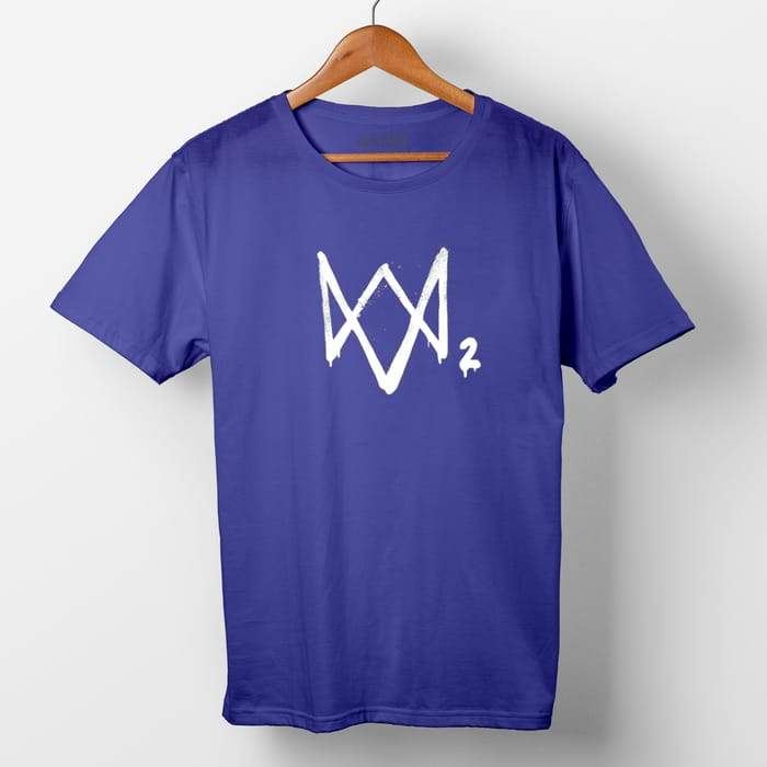 Watchdogs 2 half sleeve round neck printed t shirt