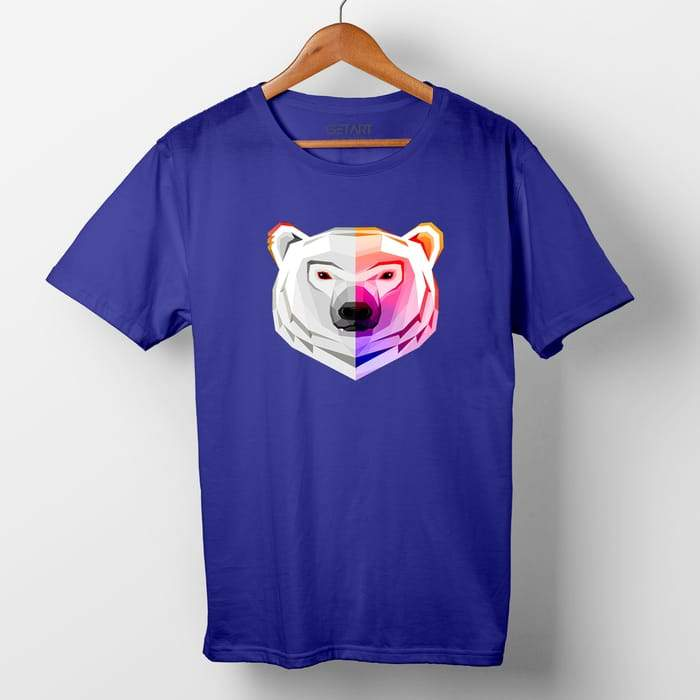 Polar Bear Animals half sleeve round neck printed t shirt