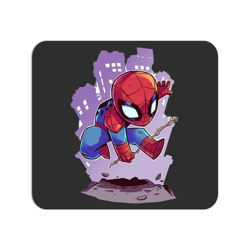 Kiddo Spider Man Cute Fan Art Large Mouse Pad