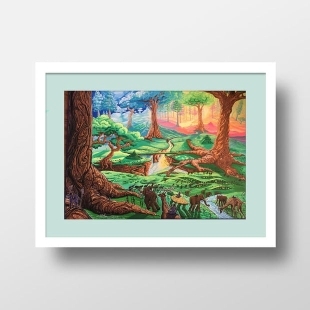 The Park - High Quality Fantasy Nature Framed Mounted Art For Your Wall