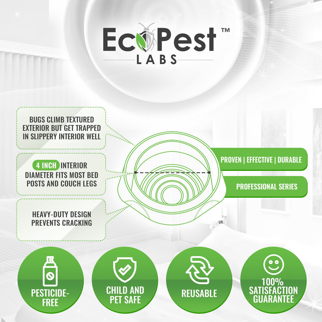 Bed Bug Blocker (Pro)™ — 4 Pack | Interceptors, Monitors, and Traps by EcoPest Labs