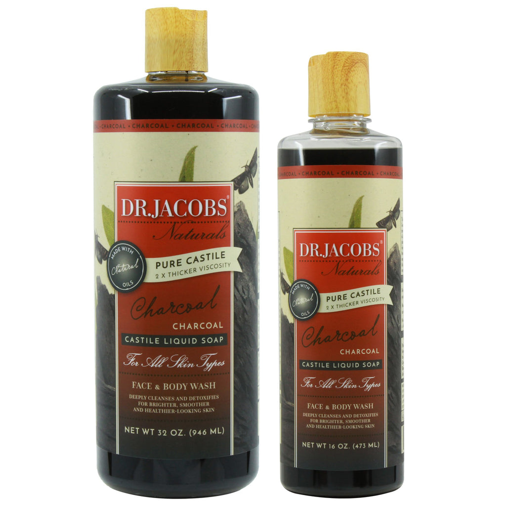 Now + Later Castile Liquid Soap Set - Charcoal by Dr. Jacobs Naturals