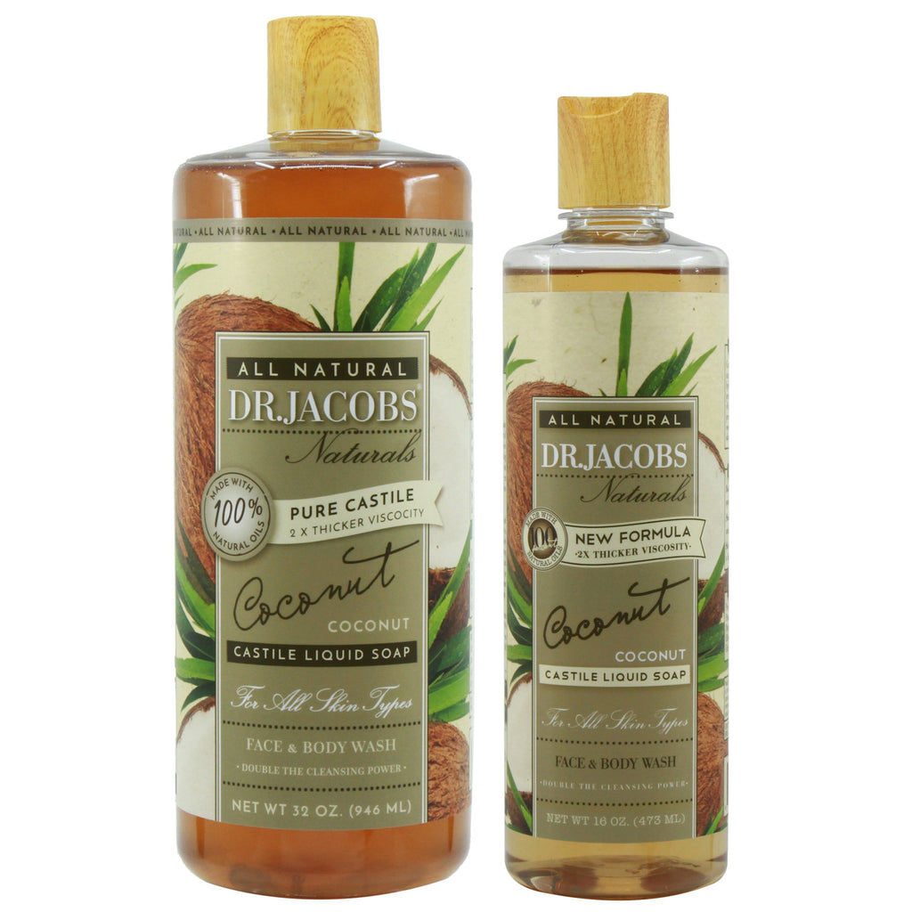 Now + Later Castile Liquid Soap Set - Coconut by Dr. Jacobs Naturals