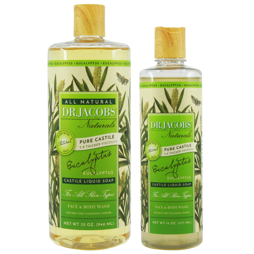 Now + Later Castile Liquid Soap Set - Eucalyptus by Dr. Jacobs Naturals