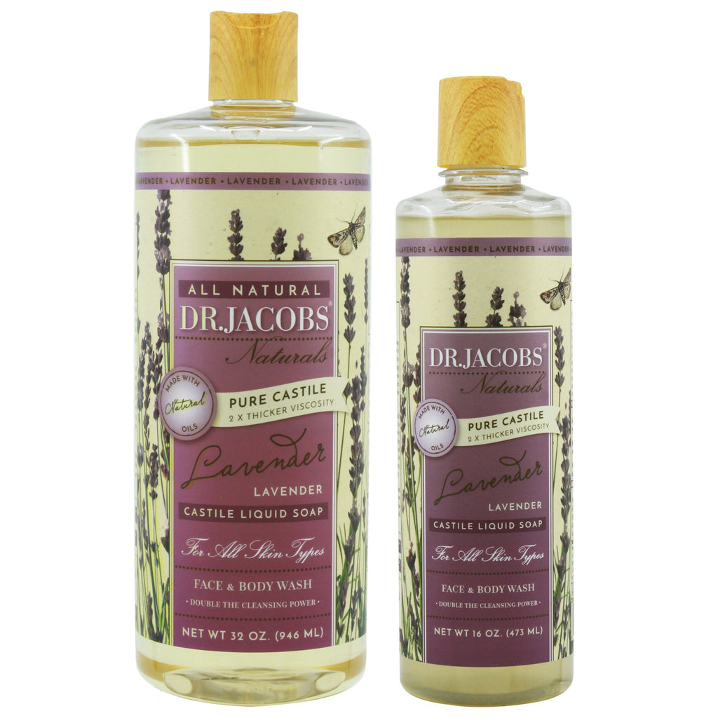 Now + Later Castile Liquid Soap Set - Lavender by Dr. Jacobs Naturals