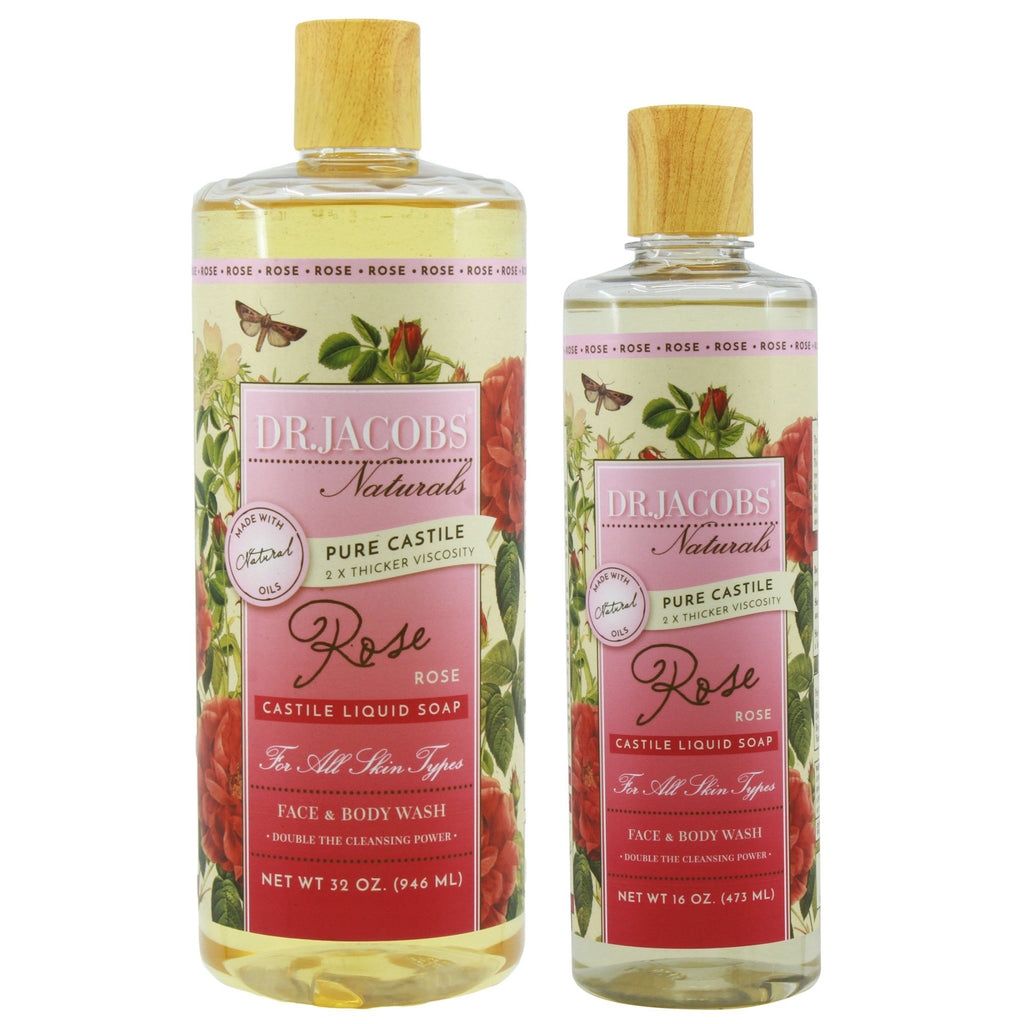 Now + Later Castile Liquid Soap Set - Rose by Dr. Jacobs Naturals
