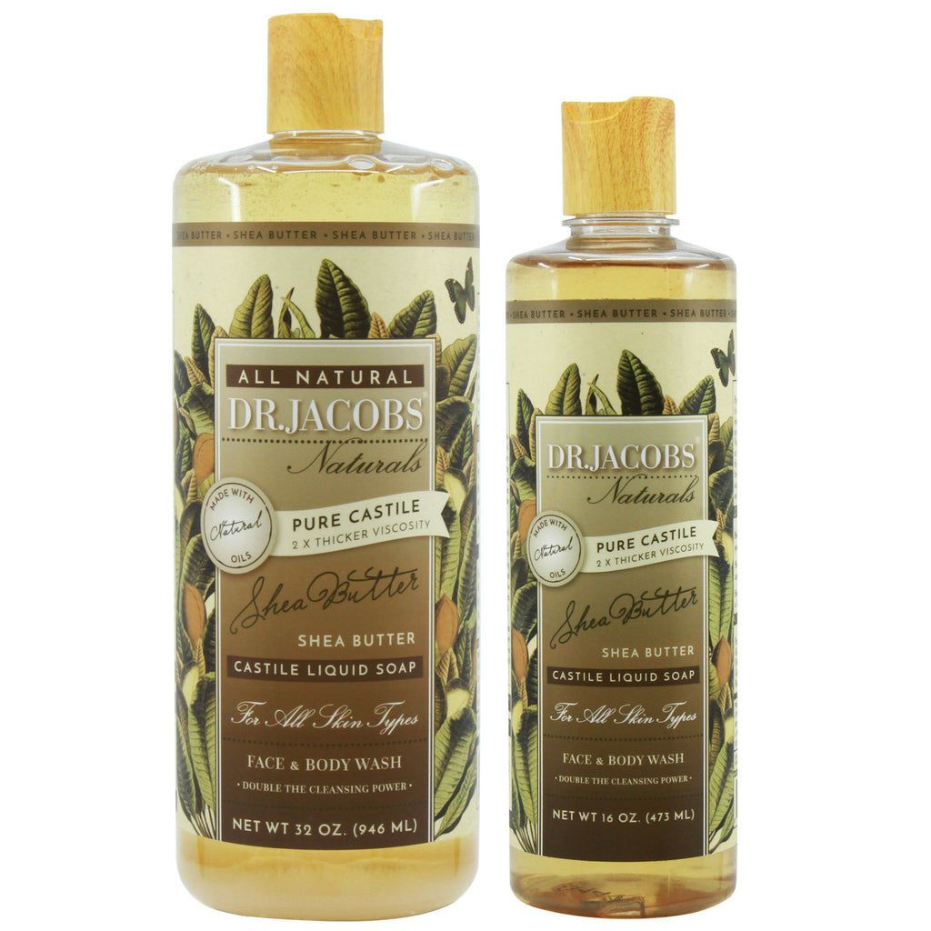Now + Later Castile Liquid Soap Set - Shea Butter (Organic Fair Trade) by Dr. Jacobs Naturals