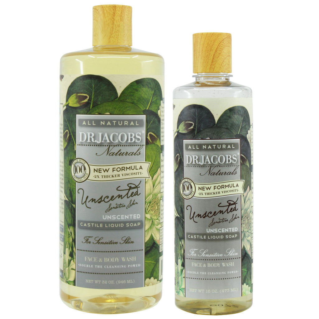 Now + Later Castile Liquid Soap Set - Unscented by Dr. Jacobs Naturals