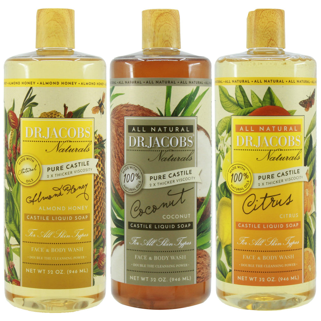 Paradise Castile Liquid Soap Set by Dr. Jacobs Naturals