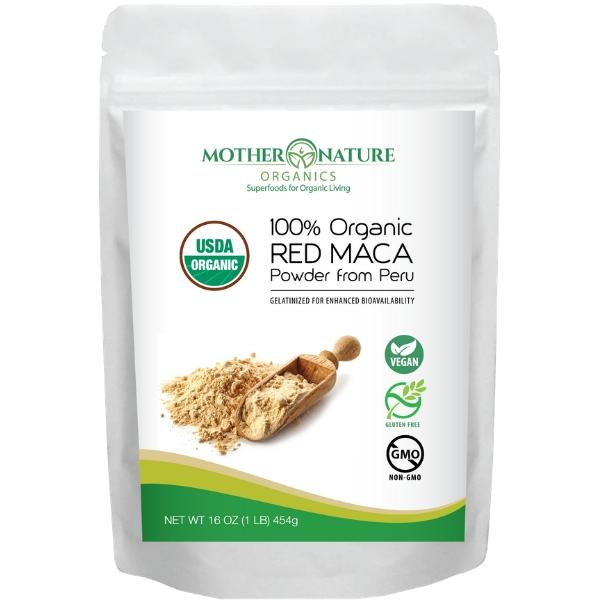 Red Maca Powder by Mother Nature Organics