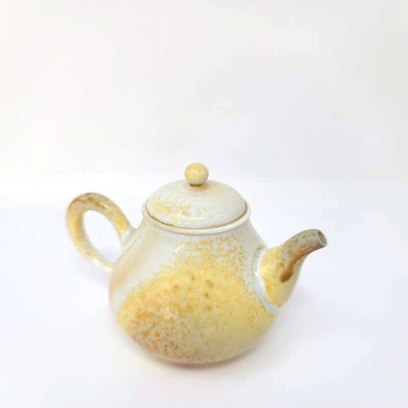 Ash Yellow Wood-fired Teapot by Tea and Whisk