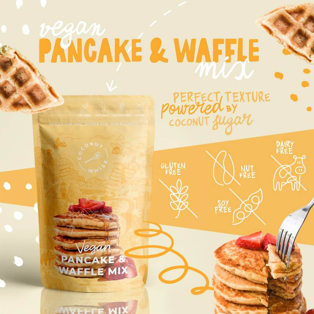 Vegan Pancake & Waffle Mix by Coconut Whisk Baking Co.