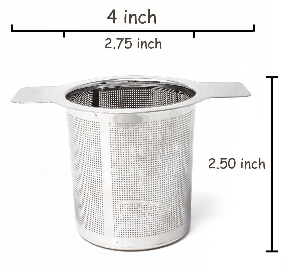 Stainless Steel Laser Cut Strainer by Tea and Whisk