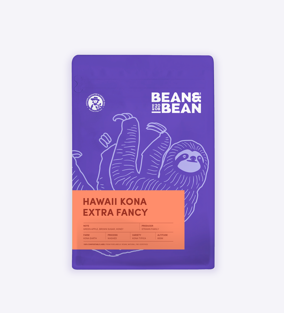 Hawaii Kona Extra Fancy 100% Kona Coffee Kona Earth Family Farm Gary Strawn Bean & Bean Coffee Roasters New York Local NYC