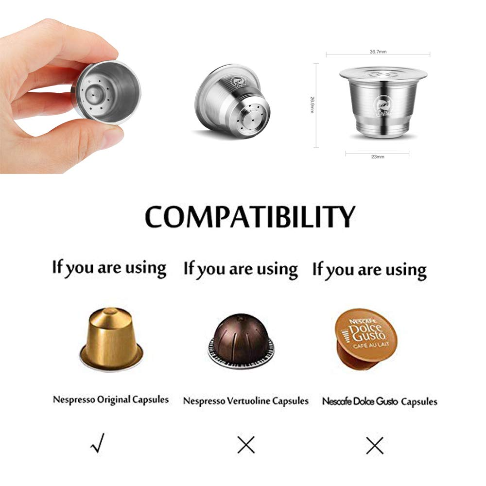 Stainless Steel Reusable Coffee Capsule Pod - for Nespresso Machines