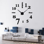 3D Wall Mirror Clock
