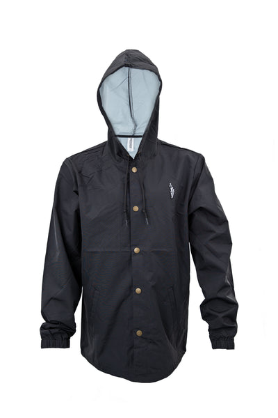 "PROF ""Kaiser Von Powderhorn"" Black Windbreaker"