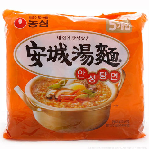 Nongshim AnSungTangMyun Ramyeon Noodles 125g (4.41 oz) x 5 Packs