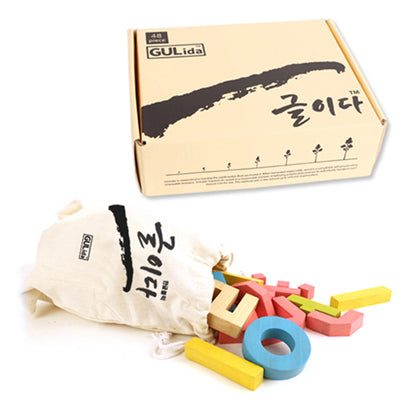 The Heritage HUU GULida Wooden Hangeul Blocks 48pc