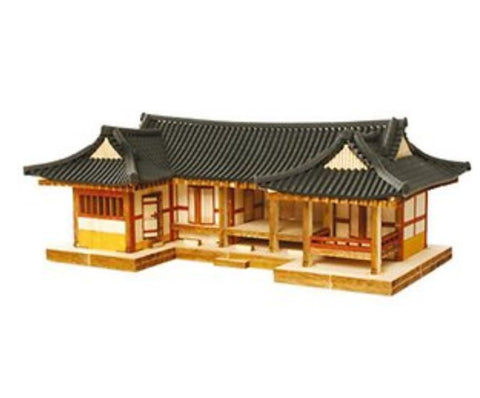 Wooden Model Kit 3D Puzzle - Korean Digeut Shape Hanok Tile Roof House