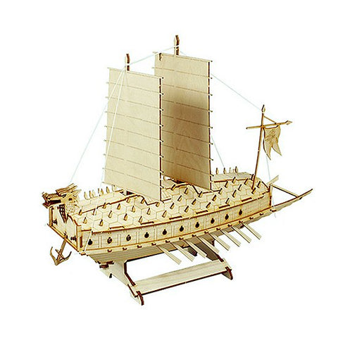 Wooden Model Kit Junior 3D Puzzle - Korean Turtle Ship