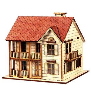 Wooden Model Kit 3D Puzzle Western House 1
