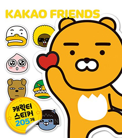 KaKao Friends Ryan Character Sticker Book 205 Stickers