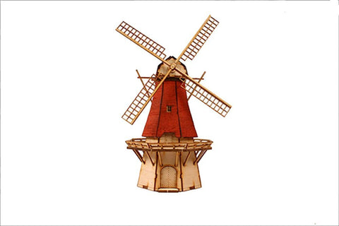 Wooden Model Kit 3D Puzzle - Windmill 2