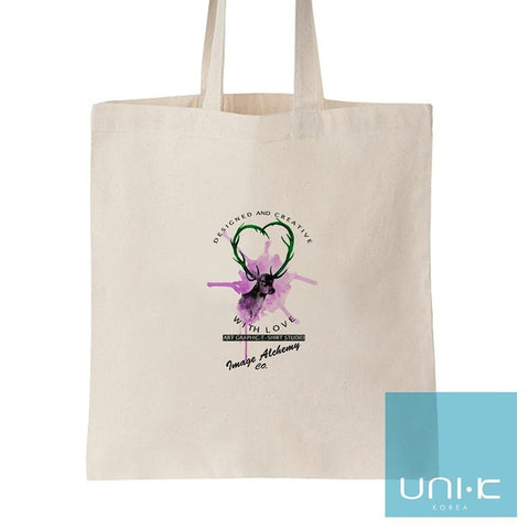 100% Cotton Heavy Duty Canvas Tote Eco Bag - Think Happy Be Happy