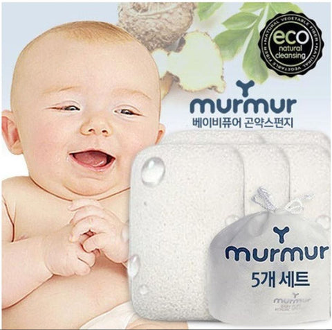 Murmur Baby 100% Natural Konjac Sponge Set of 5 - Rectangle