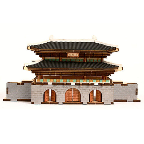 Wooden Model Kit 3D Puzzle - Gwanghwamun Gate