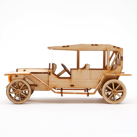 Wooden Model Kit 3D Puzzle - Classic Car 1