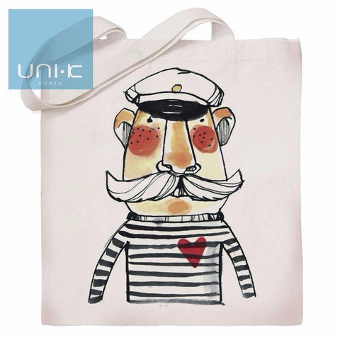 100% Cotton Heavy Duty Canvas Tote Eco Bag - Sailor Man