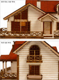 Wooden Model Kit 3D Puzzle - Garden House B