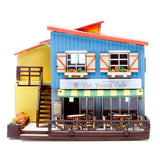 Wooden Model Kit 3D Puzzle - Cafe House