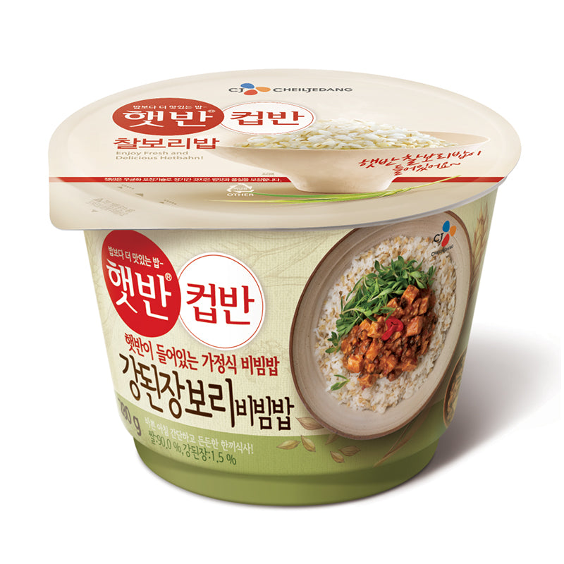 CJ Hetban Cupban - Soybean paste sauce Bibimbap w/barly rice 280g x 2 pack