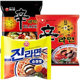Nongshim and Ottogi Ramyun Mild Combo ( 4.23 Oz)  x 6 Pack