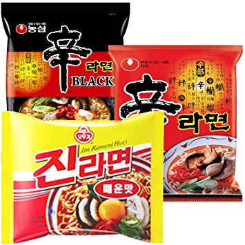 Nongshim and Ottogi Ramyun Hot Combo ( 4.23 Oz)  x 6 Pack