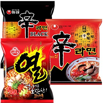 Nongshim and Ottogi Ramyun Spicy Combo ( 4.23 Oz)  x 6 Pack