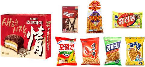 Variety pack of Korean Snacks - pack of 8