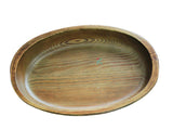 Hand Carved 100% Natural Korean Pine Wooden Bowl - Oblong (S)