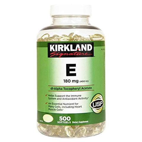 Kirkland Signature Vitamin E 400 IU 180 mg., 500 Softgels