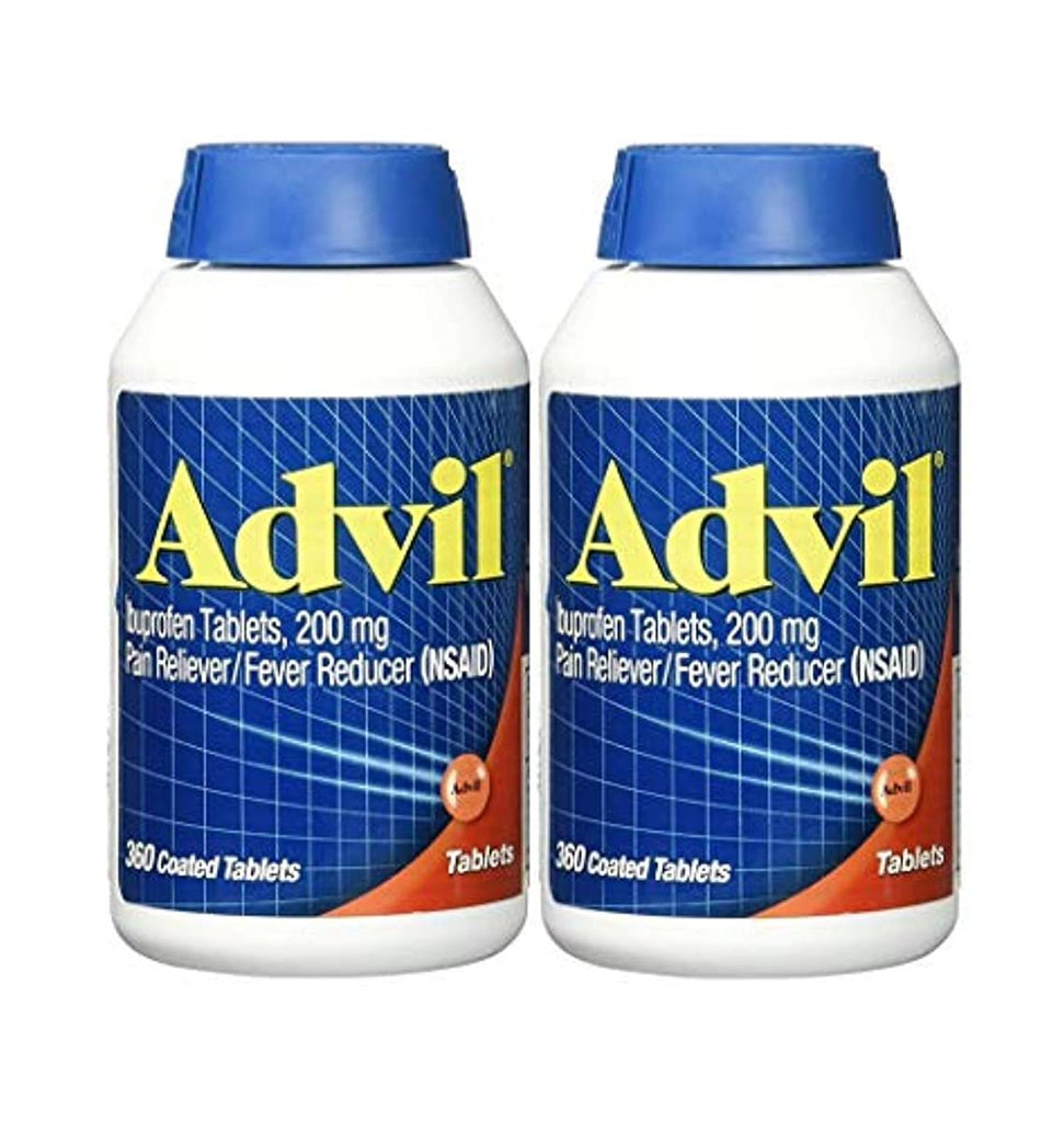 Advil Pain Reliever/Fever Reducer Coated Tablet, 200mg Ibuprofen, Temporary Pain Relief (300 Count) 2-Pack